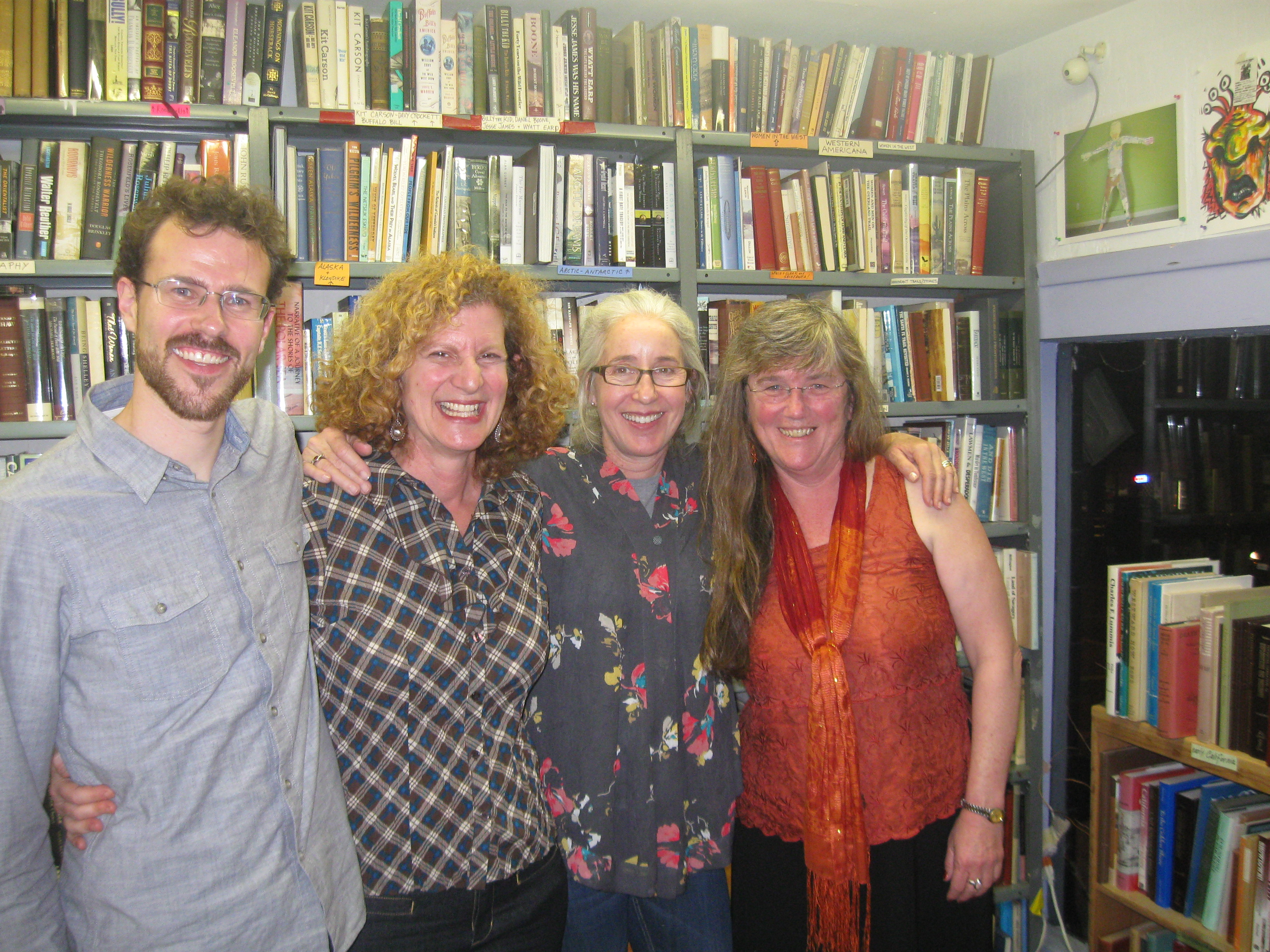 Great Overland Book Company poetry reading with fellow Writing Salon teachers Ben Jackson, Alison Luterman, and Julie Bruck. (April, 2014)
